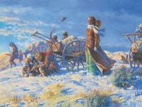 Handcart Pioneers Approaching the Salt Lake Valley