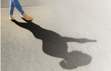 girl's shadow