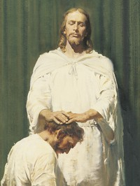 Christ ordaining an Apostle
