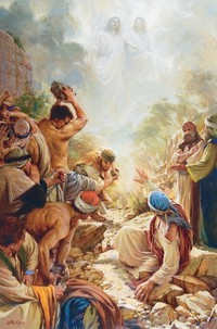 Stephen Sees Jesus on the Right Hand of God