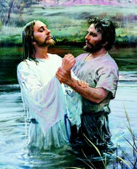 John the Baptist baptising Christ