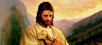 Christ holding lamb