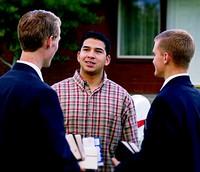 missionaries talking