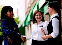 sister missionaries talking