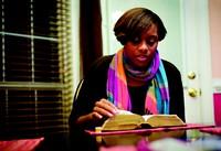 girl reading scriptures