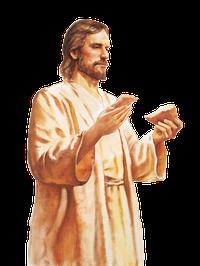Christ Holding Sacrament Bread