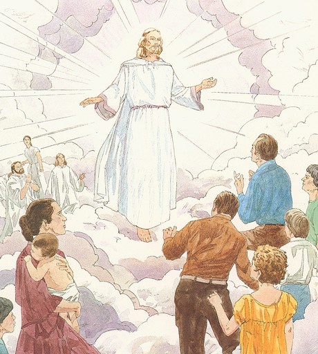 Jesus appearing in cloud