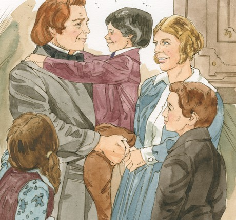 Brigham caring for his family