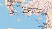 map, northeastern Mediterranean