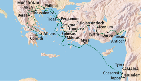 map, northeastern Mediterranean