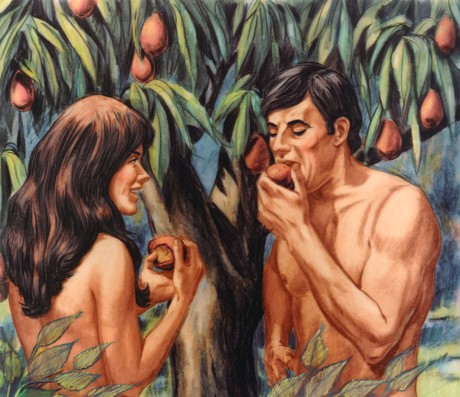 Image result for adam and eve eat the fruit
