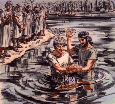 Enoch baptizing man