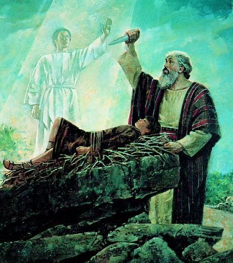 angel stoping Abraham