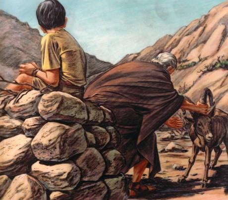 Abraham catching ram