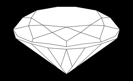 diamond with black background
