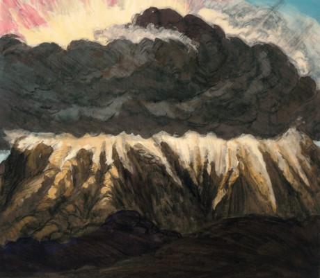 cloud of smoke around Mount Sinai
