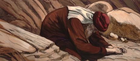 Moses praying
