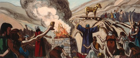Israelites making sacrifices