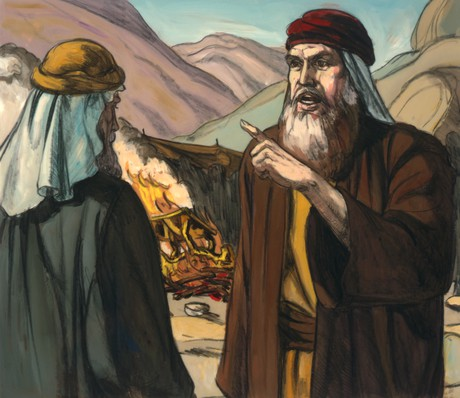 Moses speaking to Aaron