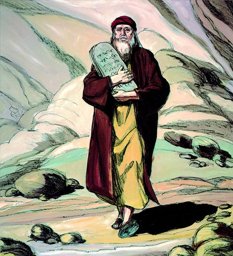 Moses with ten commandments