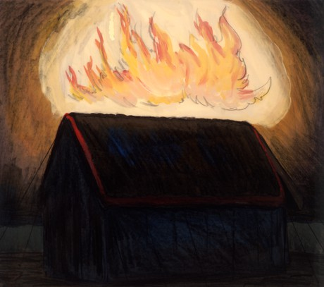 fire on tabernacle