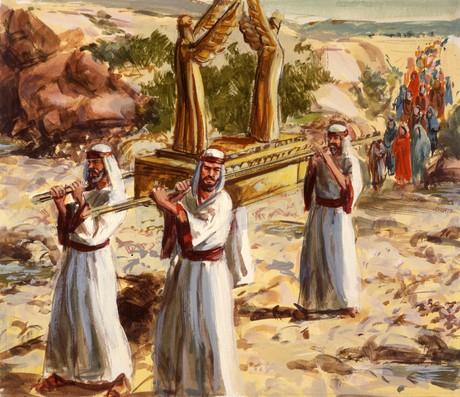 Israelites carrying ark of the covenant