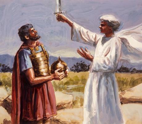 angel speaking to Joshua
