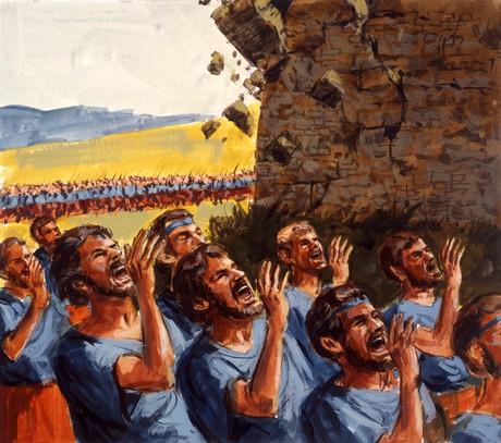 Israelites shouting