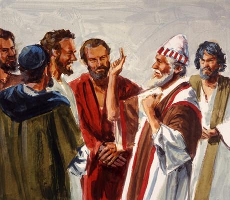 Joshua admonishing people