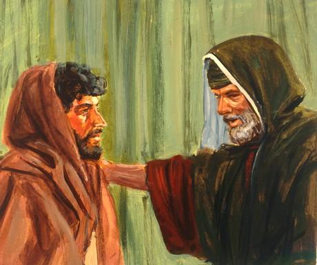 Samuel greeting Saul