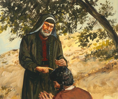 Samuel annointing Saul