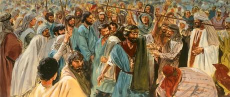 people gathering around King Saul