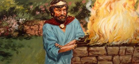 Saul burning sacrifices