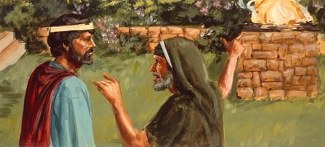 Samuel getting angry with Saul
