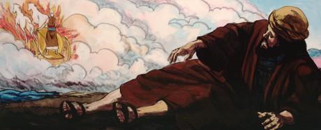 Elisha falling to ground