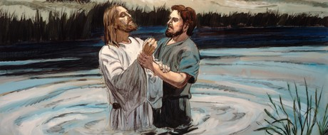 John the Baptist baptizing Jesus Christ