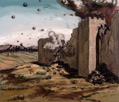 Romans destroying Jerusalem's walls