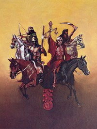 painting of four horsemen