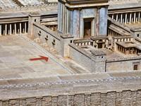 detail, model of Jerusalem temple