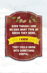 seeds with quote