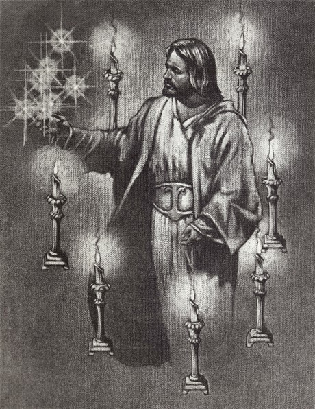Christ with seven candlesticks