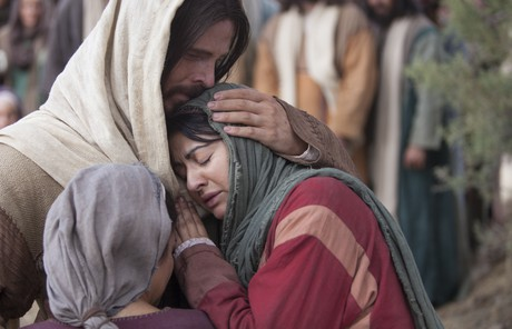 Christ comforting a woman