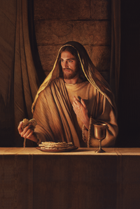 Jesus Christ administers the sacrament