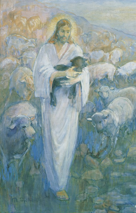 Christ with sheep