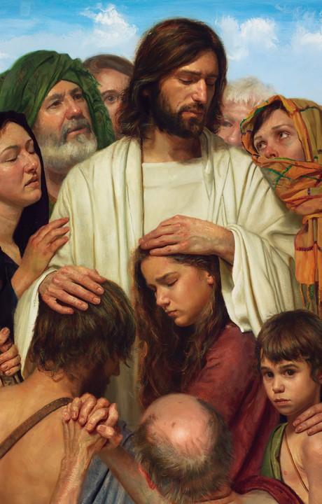 le Christ entouré de gens