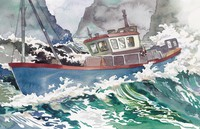 boat in rough water