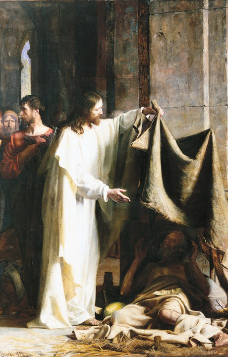 Christ at pool of Bethesda