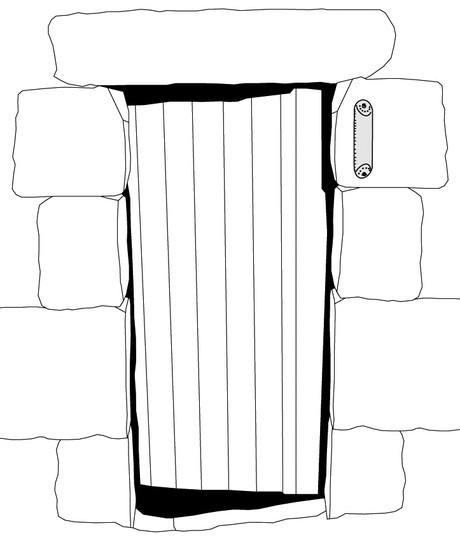 doorway with mezuzah