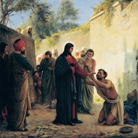 le Christ avec un aveugle