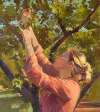 woman and fruit tree